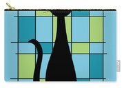 Abstract With Cat In Blue Carry-all Pouch