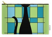 Abstract With Cat In Green Carry-all Pouch