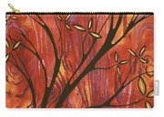 Abstract Wood Pattern Painting Original Landscape Art Moon Tree By Megan Duncanson Carry-all Pouch