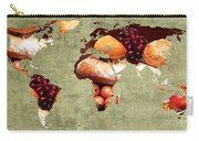 Abstract World Map - Harvest Bounty - Farmers Market Carry-all Pouch