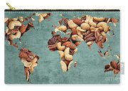 Abstract World Map - Mixed Nuts - Snack - Nut Hut Carry-all Pouch