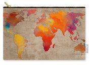 Abstract World Map - Rainbow Passion - Digital Painting Carry-all Pouch