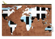 Abstract World Map - Which Way Is Up - Painterly Carry-all Pouch