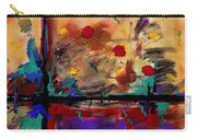 Abstract Yellow Horizontal Carry-all Pouch