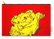 Abstract Yellow Rose Carry-all Pouch