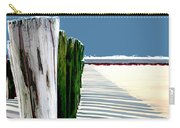 Abstracted Beach Dune Fence Carry-all Pouch