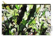 Abstraction Green And White Carry-all Pouch