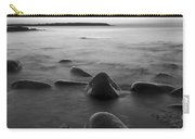 Acadia National Park Shoreline Sunrise Wakeup Black And White Carry-all Pouch