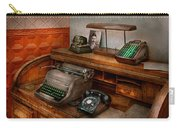 Accountant - Typewriter - The Accountants Office Carry-all Pouch by Mike Savad