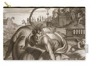Achelous In The Shape Of A Bull Carry-all Pouch by Bernard Picart