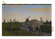 Achelousaurus Grazing In Swamp Carry-all Pouch