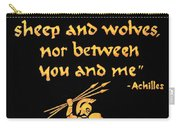 Achilles Admonition Carry-all Pouch