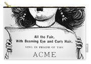 Acme Hair Dye Ad, C1890 Carry-all Pouch