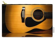 Acoustic Guitar Reflected Carry-all Pouch