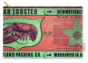 Ad Lobster, C1867 Carry-all Pouch