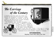 Ad Studebaker Carriages Carry-all Pouch