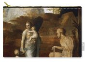Adam And Eve With Cain And Abel Carry-all Pouch