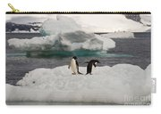 Adelie Penguins On Ice Carry-all Pouch