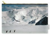 Adelie Penguins Trekking On The Ice Carry-all Pouch