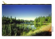 Admiring The Beauty At Woodbridge Lake Carry-all Pouch