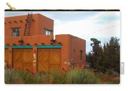 Adobe House And Poppies Carry-all Pouch
