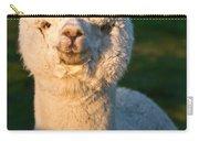 Adorable White Alpaca Portrait Carry-all Pouch