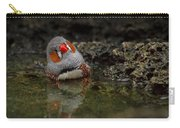 Adorable Zebra Finch Taking A Bath Carry-all Pouch
