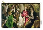 Adoration Of The Shepherds Carry-all Pouch by El Greco Domenico Theotocopuli