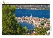 Adriatic Town Of Vinjerac Aerial View Carry-all Pouch