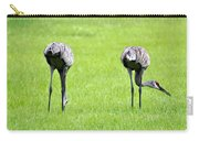 Adult Florida Sandhill Cranes Grus Canadensis Pratensis I Usa Carry-all Pouch