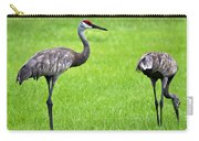 Adult Florida Sandhill Cranes Grus Canadensis Pratensis II Usa Carry-all Pouch