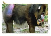 Adult Male Mandrill Papio Sphinx Carry-all Pouch