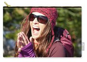 Adult Woman Laughing Out Loud While Carry-all Pouch