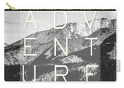 Adventure Typography Carry-all Pouch