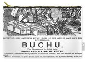 Advertisement: Buchu, 1871 Carry-all Pouch
