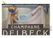 Advertisement For Champagne Delbeck Carry-all Pouch by Louis Chalon