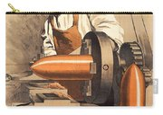 Advertisement For War Loan From World War I Carry-all Pouch by Richard Zarrin