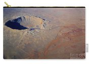 Aerial Of Meteor Crater Carry-all Pouch