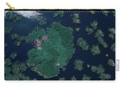 Aerial Of Small Island Village, Uganda Carry-all Pouch