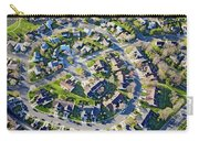 Aerial Pattern Of Residential Homes Carry-all Pouch