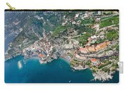 Aerial View Of A Town, Atrani, Amalfi Carry-all Pouch