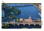 Aerial View Of Bridges Crossing Charles Carry-all Pouch