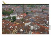 Aerial View Of Bruges Belgium Carry-all Pouch