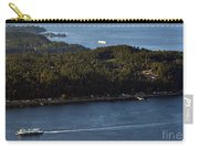 Aerial View Of Ferry Boats On Puget Sound One Leaving Bainbridge Carry-all Pouch