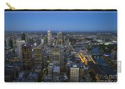 Aerial View Of Melbourne At Night Carry-all Pouch