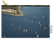 Aerial View Of Seattle Skyline With Sailboat Race On Puget Sound Carry-all Pouch