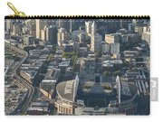 Aerial View Of Seattle Skyline With The Pro Sports Stadiums Carry-all Pouch