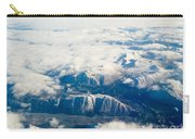 Aerial View Of Snowcapped Mountains In Bc Canada Carry-all Pouch