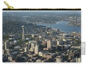 Aerial View Of Space Needle And Lake Union Carry-all Pouch