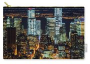 Aerial View Of The Lower Manhattan Skyscrapers By Night Carry-all Pouch